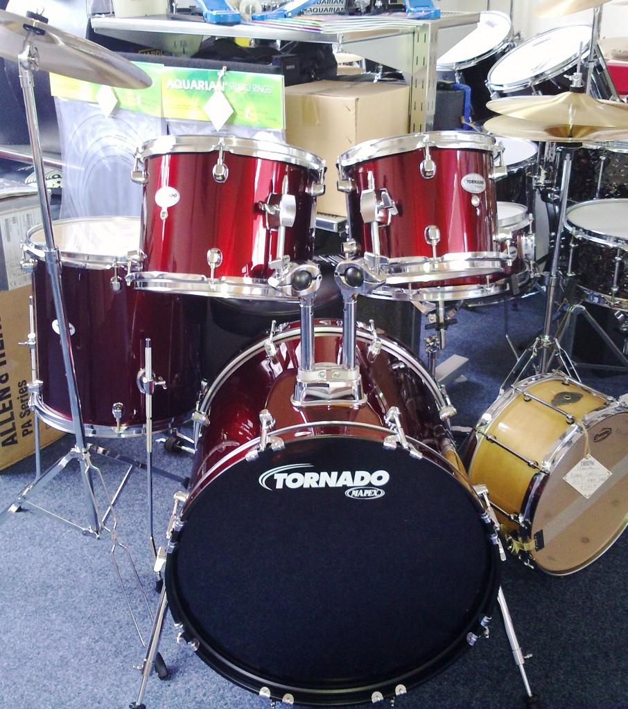 complete drum kit package sets ideal for beginners dye house drum works. Black Bedroom Furniture Sets. Home Design Ideas
