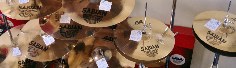 Sabian Cymbal Tree Display at Dye House Drum Works