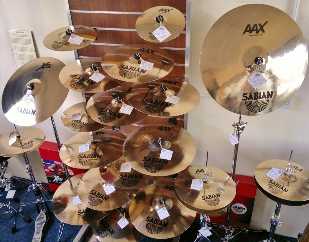 Sabian Cymbals on Display at Dye House Drum Works, Leicester