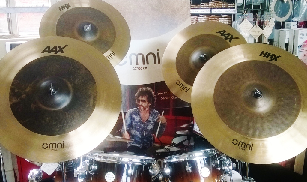 Sabian Omni cymbals arrive at Dye House Drum Works Leicester