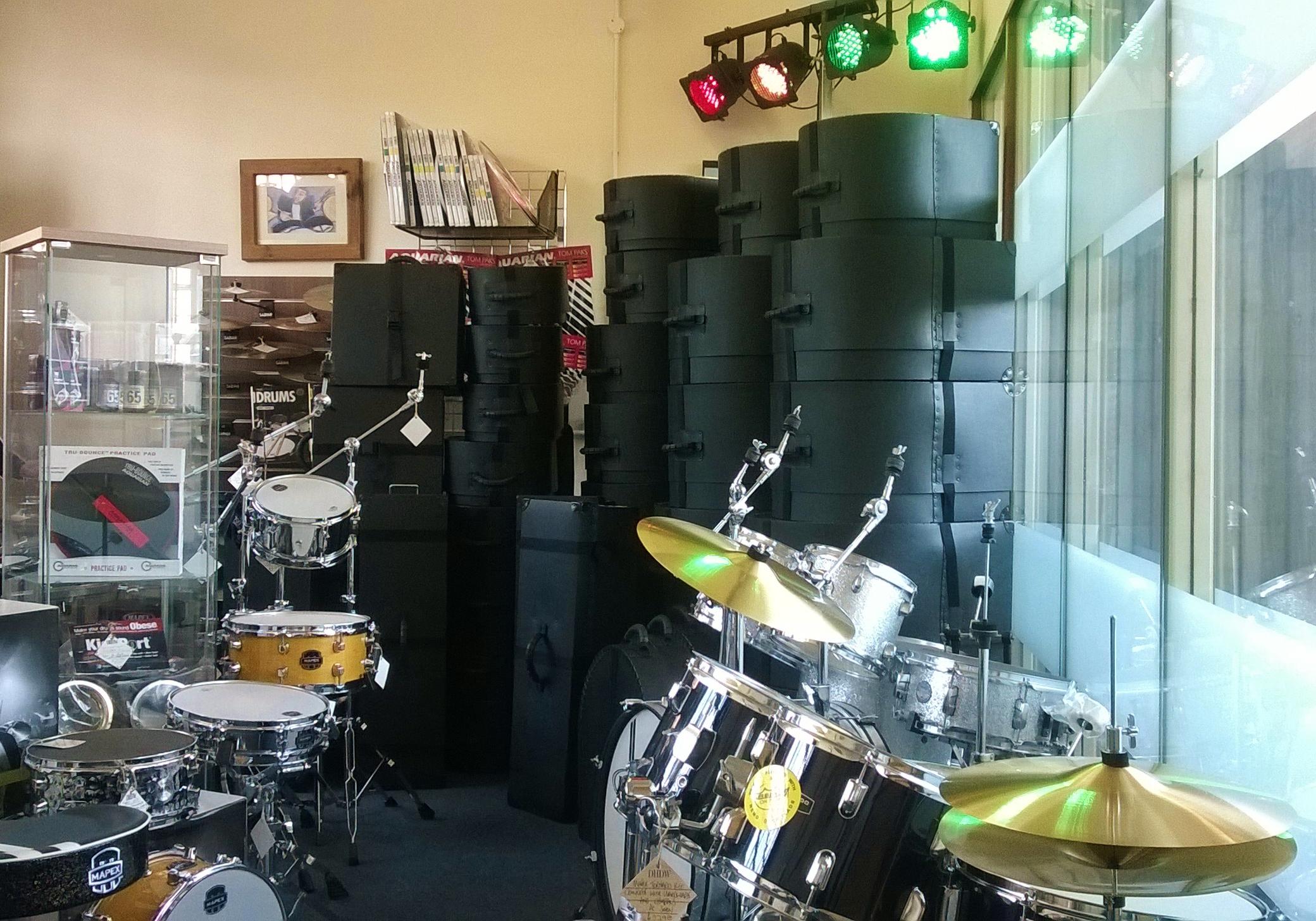 BAT CASE Drum Case Display at Dye House Drum Works, Leicester