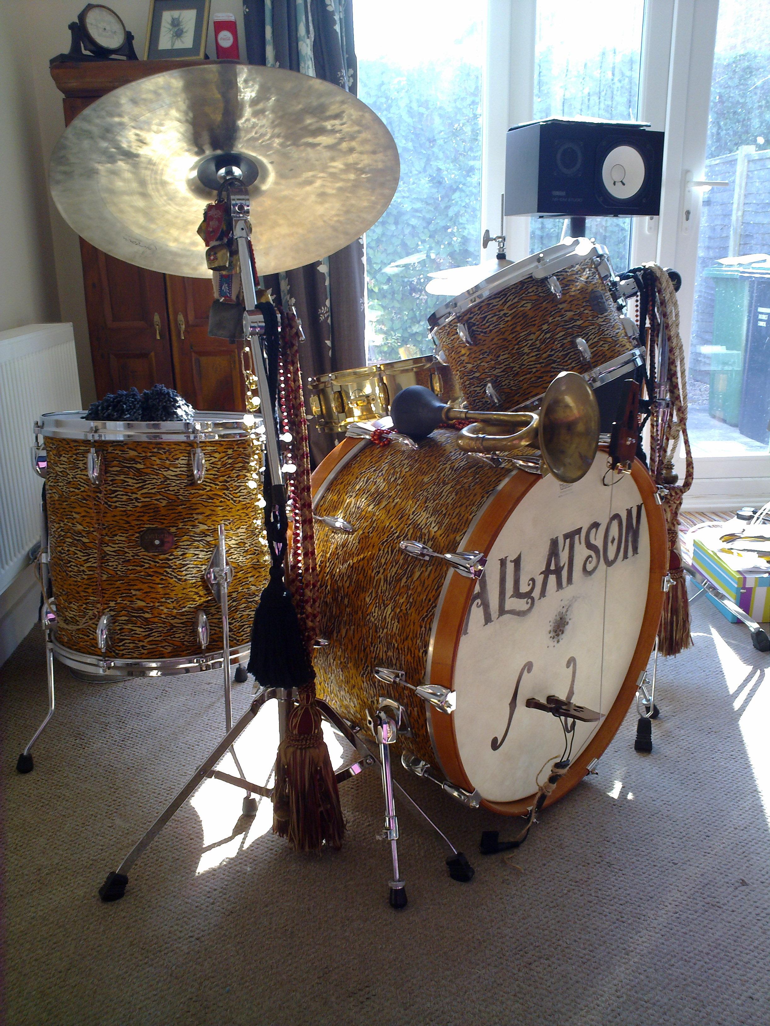 Gretsch 1970's drum kit in tiger skin