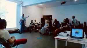 Attendees at Skronkfest 2018 enjoy a workshop from Lee Allatson