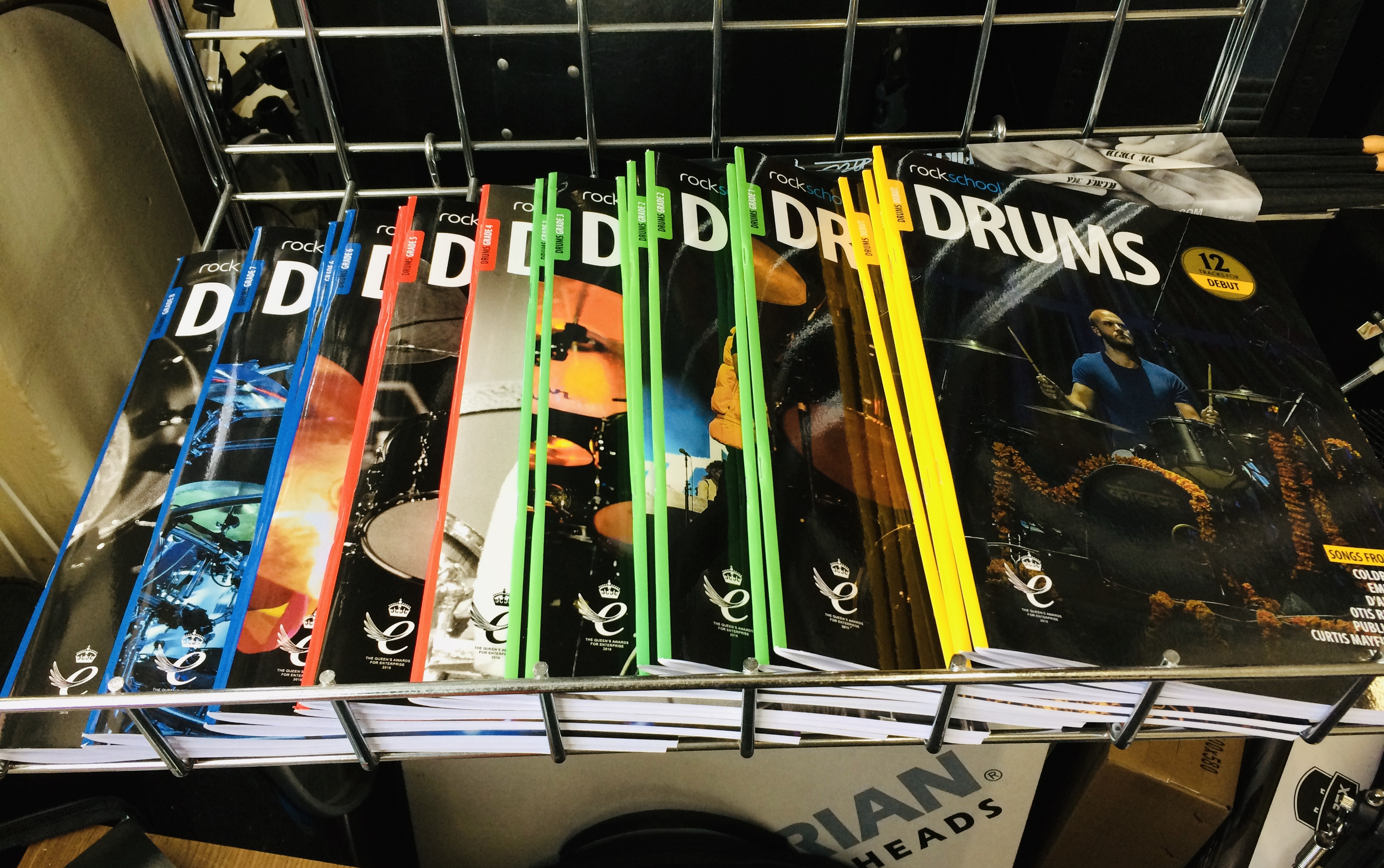 Rockschool 2018 drum kit syllabus books picture