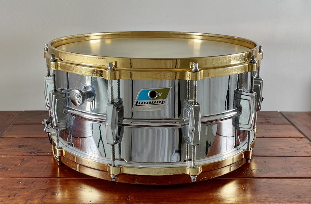 Ludwig 402 Supraphonic Snare Drum face on image