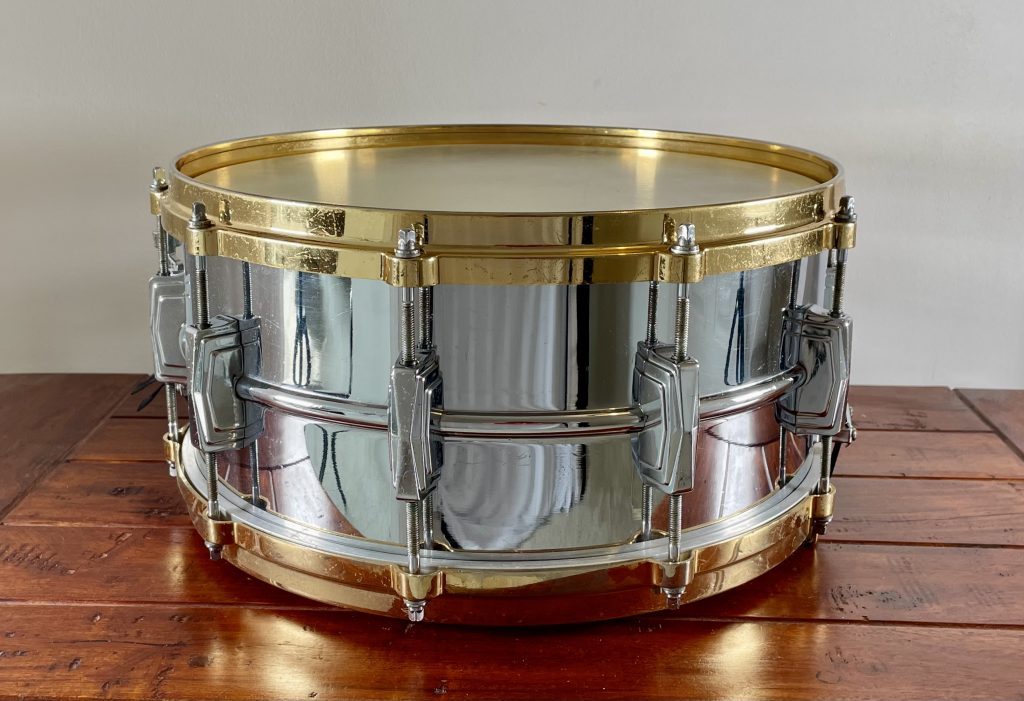 Used Ludwig 402 snare for sale, rear view