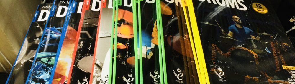 Rockschool 2018 drum kit syllabus books picture